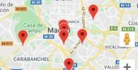 mapa academias
