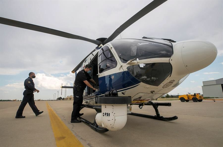 helicoptero policía